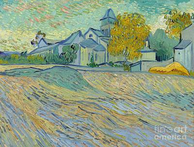 View Of The Asylum And Chapel At Saint Remy Print by Vincent Van Gogh