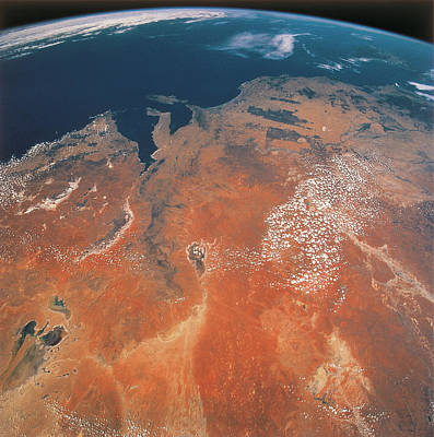 Satellite Views Photograph - View Of The Earth From Outer Space by Stockbyte