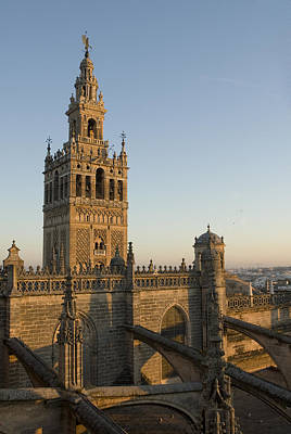 View Of The Giralda Tower Print by Krista Rossow