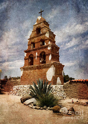 View Of The San Miguel Bell Tower Print by Laura Iverson