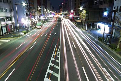 View Of Traffic At Nihonbashi, Tokyo, Japan Print by Billy Jackson Photography