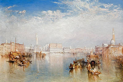 Grand Canal Gondola Painting - View Of Venice The Ducal Palace Dogana And Part Of San Giorgio by Joseph Mallord William Turner