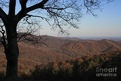 Landskape Photograph - View To Shenandoah National Park Virginia by Valia Bradshaw