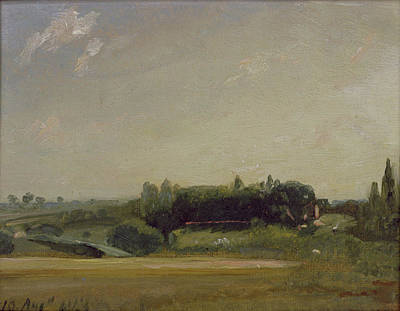 View Towards The Rectory - East Bergholt Print by John Constable