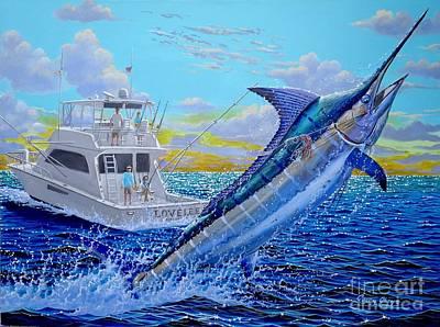 Viking Marlin Print by Carey Chen