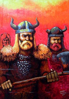 Vikings Print by Edzel marvez Rendal