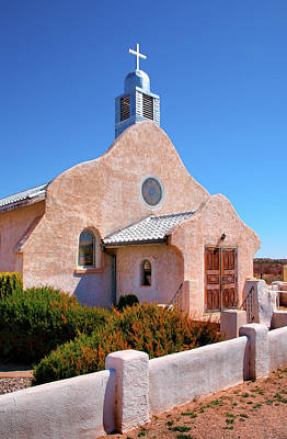 Adobe Church Photograph - Village Adobe Church IIi by Steven Ainsworth