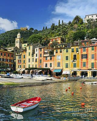 Village Of Portofino - Liguria - Italy Print by JH Photo Service