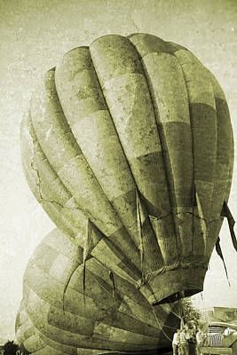 Vintage Ballooning II Print by Betsy Knapp