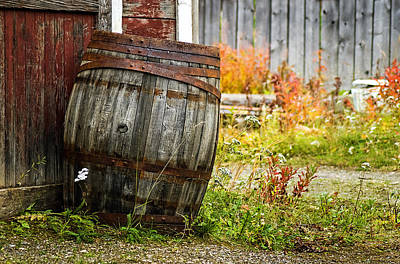 Rusted Barrels Photograph - Vintage Barrel by Wayne Stadler