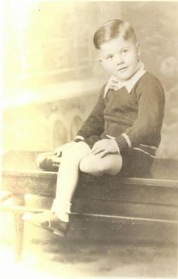 Vintage Boy Crossed Leg Print by Alan Espasandin
