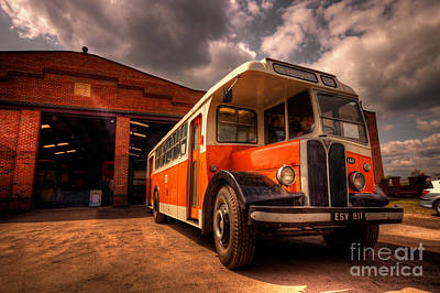 Vintage Bus  Print by Rob Hawkins