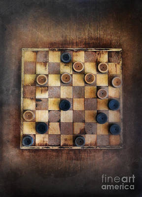 Vintage Checkers Game Print by Jill Battaglia