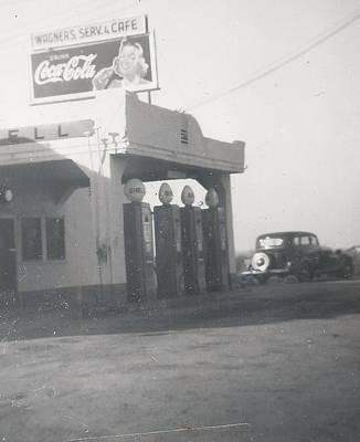 Vintage Coca Cola And Gas Print by Alan Espasandin