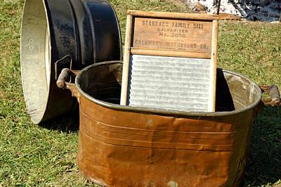 Copper Photograph - Vintage Copper Wash Tub by LeeAnn McLaneGoetz McLaneGoetzStudioLLCcom