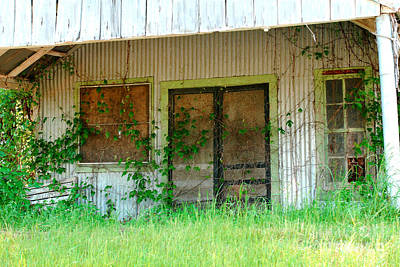 Screen Doors Photograph - Vintage Gas Station In Springtime  by Connie Fox