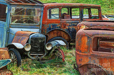 Wrecked Cars Photograph - Vintage Iron by Bob Christopher