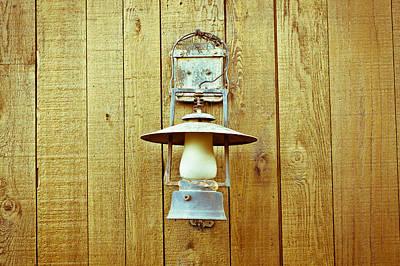 Mining Photograph - Vintage Lamp by Tom Gowanlock