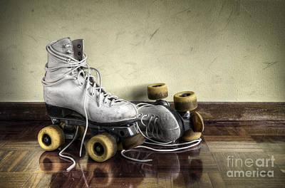 Vintage Roller Skates  Print by Carlos Caetano