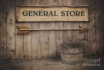 Rustic Photograph - Vintage Sign General Store by Jane Rix