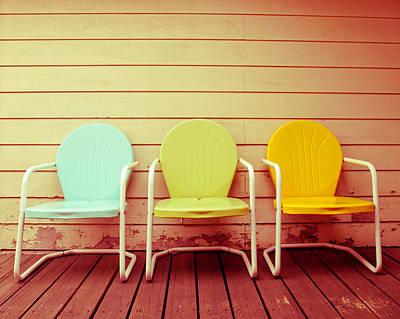 Vintage Chair Digital Art - Vintage Summer by Sonja Quintero