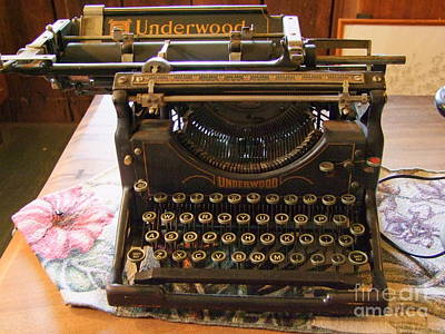 Vintage Underwood Typewriter Print by Mary Deal