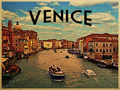 Vintage Venice Italy Print by Flo Karp