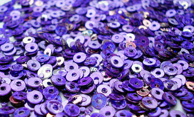 Embroidery Photograph - Violet Beads And Sequins by Sumit Mehndiratta