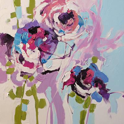 Award Winning Artist Painting - Violet Dreams by Linda Monfort