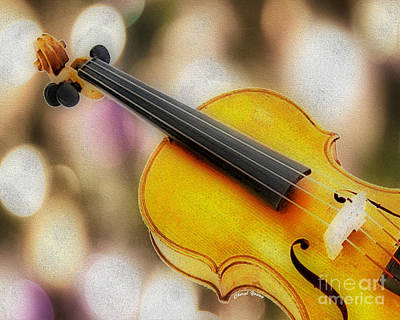 Violin Print by Cheryl Young