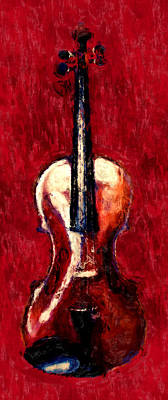 Violin Digital Art - Violin by David G Paul