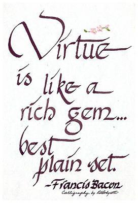 Virtue Print by Ruth Bodycott