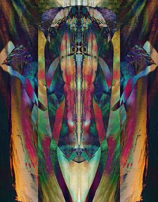 Transcend Digital Art - Visage Of The Alchemist by David Kleinsasser