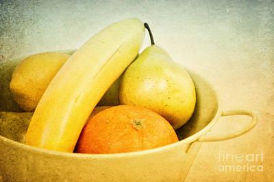 Banana Mixed Media - Vitamina by Angela Doelling AD DESIGN Photo and PhotoArt