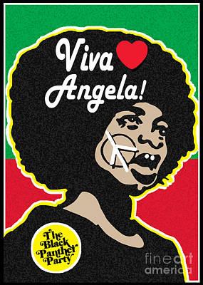 Stanley Slaughter Digital Art - Viva Angela Davis by Stanley Slaughter Jr