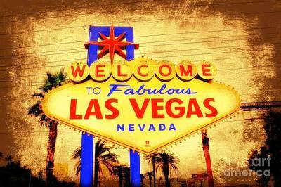 Viva Las Vegas Print by Kevin Moore
