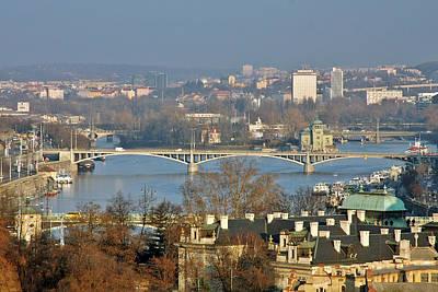Bohemian Photograph - Vltava River In Prague - Tricky Laziness by Christine Till