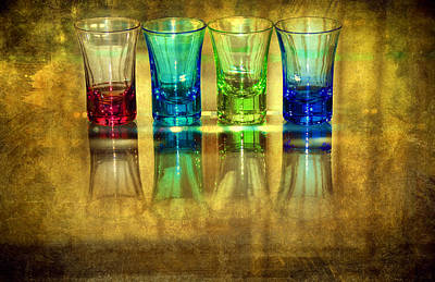 Vodka Glasses Print by Svetlana Sewell