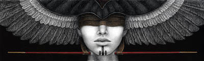 Egyptian Painting - Voice From The Inner Horizon by Pat Erickson