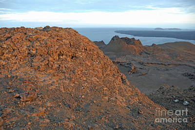 Volcanic Landscape At Sunset Print by Sami Sarkis