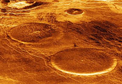 Venusian Photograph - Volcanoes On Venus by Detlev Van Ravenswaay