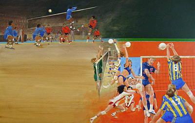 Volley Ball Original by Cliff Spohn