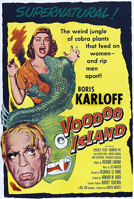 Voodoo Island, Boris Karloff, Beverly Print by Everett