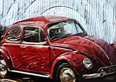 Vw Beetle Print by Tilly Williams