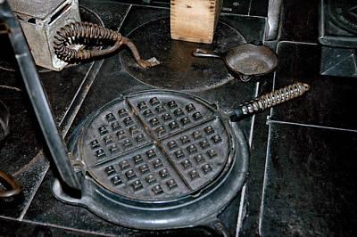 Butter Molds Photograph - Waffle Iron by LeeAnn McLaneGoetz McLaneGoetzStudioLLCcom
