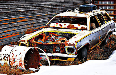 Wagon Of Rust Print by JC Photography and Art