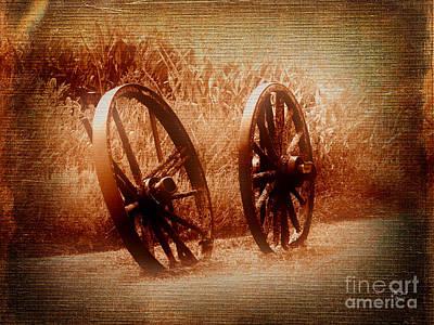 Wagon Wheels Print by Ms Judi