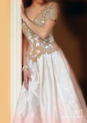 Ball Gown Photograph - Waiting By The Door by Jill Battaglia