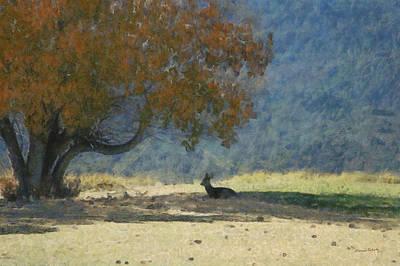 Mule Digital Art - Waiting by Ernie Echols