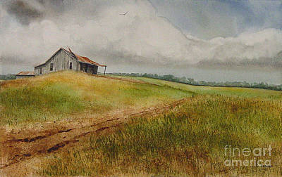 Waiting For The Summers Rain Print by Charles Fennen